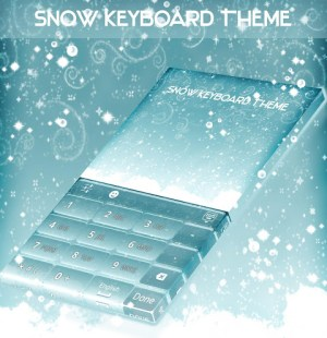 Android Snow Keyboard Theme Screen 2