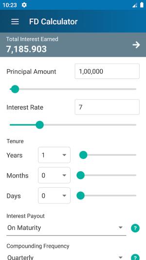 FD Calculator (EMI, SIP, RD, Loan, Gratuity & PPF) 4.0 Screen 5