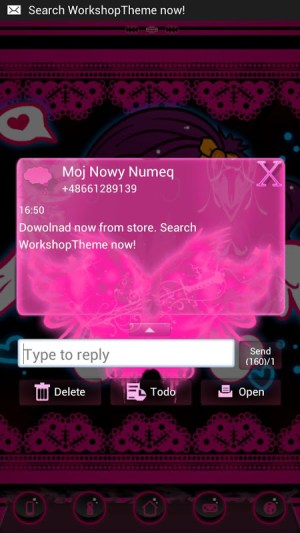 GO SMS Pro Theme Emo Pink 2.6 Screen 3