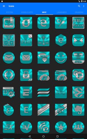 Cyan Icon Pack ✨Free✨ 3.8 Screen 6