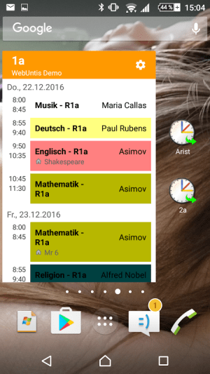 Untis Mobile 3.7.0 Screen 2