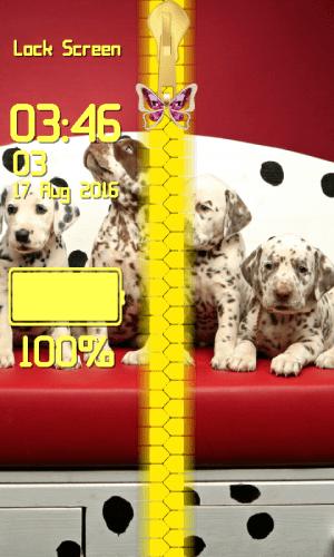 Puppy Zipper Lock Screen 1.2 Screen 3