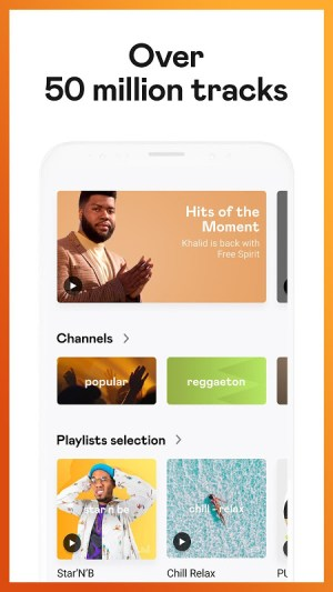 Deezer: Stream Music, Playlists, Albums & Songs 6.1.15.31 Screen 1