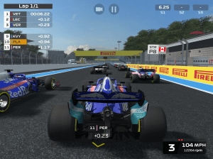 Android F1 Mobile Racing Screen 1
