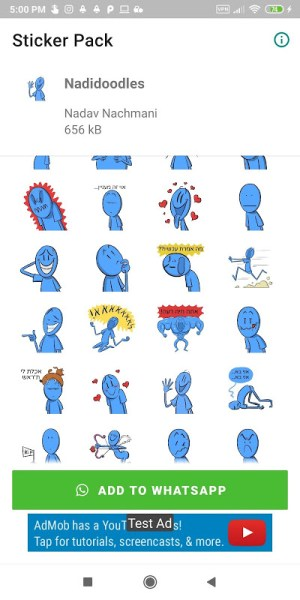 Nadidoodles Sticker Pack for WhatsApp 2.1 Screen 1