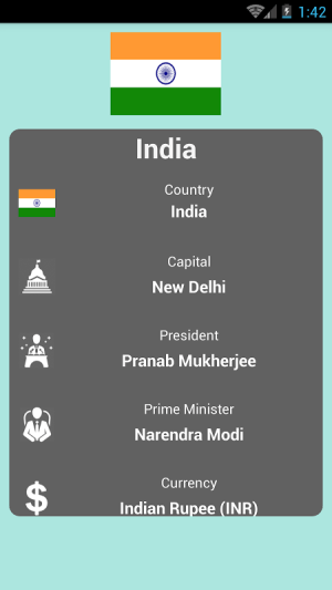 Countries and Capitals 2.2 Screen 2