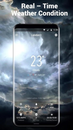 Android Local Weather Report Widget Screen 1