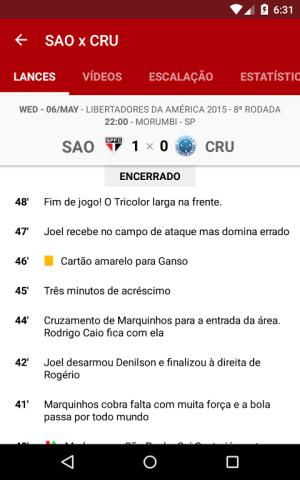 São Paulo SporTV 3.2.8 Screen 3