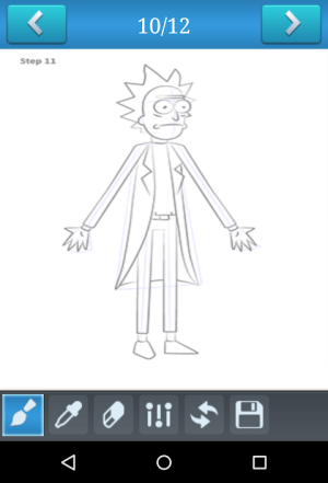 Android How to Draw Rick and Morty Screen 1