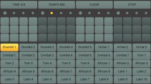 Android drum machine Screen 1