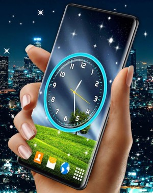 Android Night Sky Clock HD Pro 🌜 4K Live Wallpaper Themes Screen 2