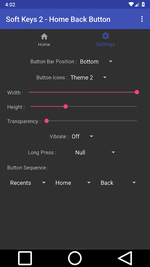 Soft Keys 2 - Home Back Button 2.0 Screen 7