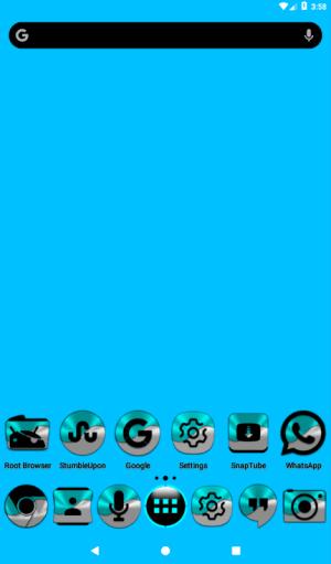 Half Light Cyan Icon Pack Free 2.3 Screen 9