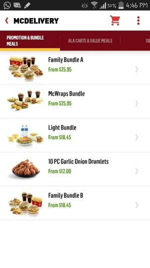 McDelivery Singapore 3.1.84 (SG72) Screen 2