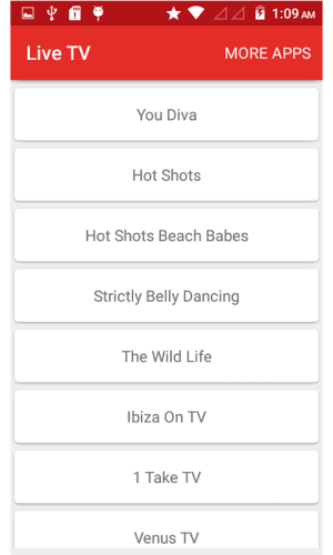 Android Live TV - Indian Channels Screen 2