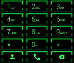 Theme for ExDialer Neon Green 2.0 Screen 6