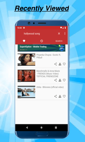 Android MP3 Youtube Downloader - Audio Player Youtube Screen 3