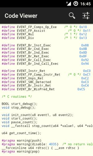 Code Viewer 2.6.1 Screen 2