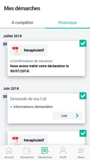 Caf - Mon Compte 2.1.0 Screen 6