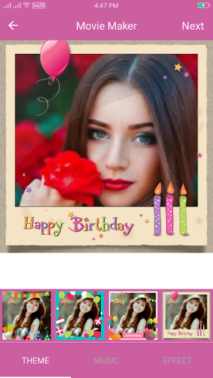 Birthday Video Maker With Song 1.0 Screen 4