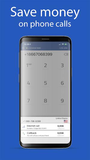 International Calls 12.2.9 Screen 3