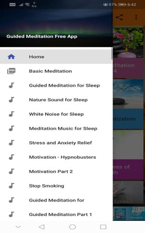 Android Guided Meditation Free App - Sleep & Relaxation Screen 1