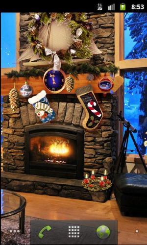 Christmas Fireplace LWP Full 1.81 Screen 5