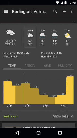 Google News & Weather 2.8.5 (136063537) Screen 4