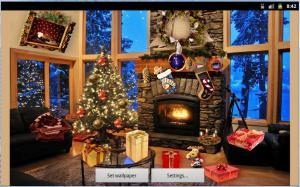 Christmas Fireplace LWP Full 1.81 Screen 2