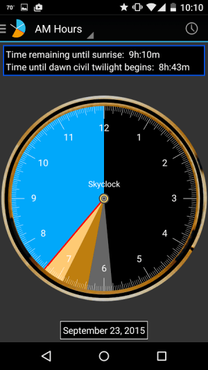 Skyclock 1.4 Screen 2