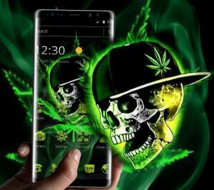 Green Weed Skull Theme 1.1.7 Screen 2
