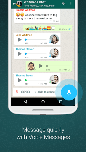 WhatsApp Messenger 2.21.3.8 Screen 3