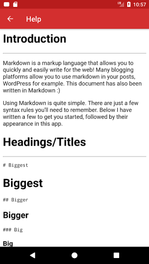 Simple Markdown 0.4.3 Screen 4