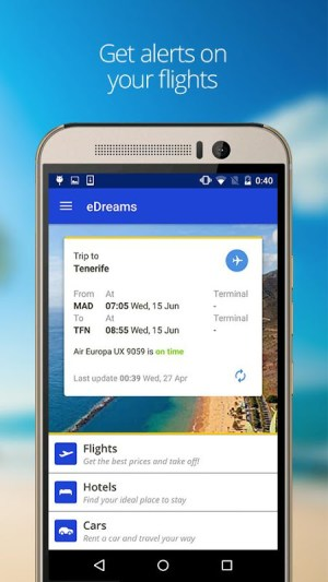 eDreams: Book cheap flights and travel deals 4.131.0 Screen 1