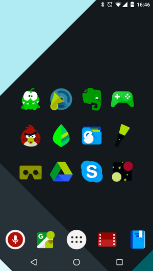 Android Iride UI is Dark - Icon Pack Screen 1