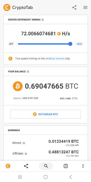 CryptoTab Browser 3.1.6 Screen 3