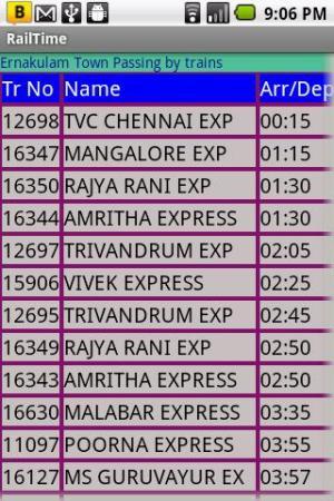 IndianRailway Offline TimeTabl 1.041 Screen 3