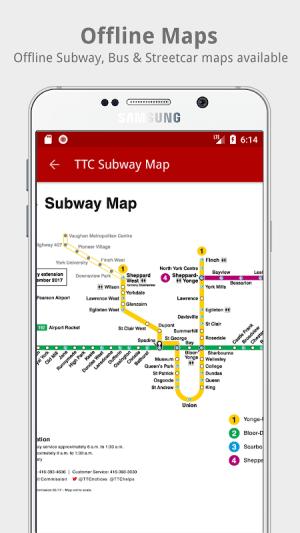 My TTC - Toronto Transit Bus, Subway Tracker 2.6 Screen 7