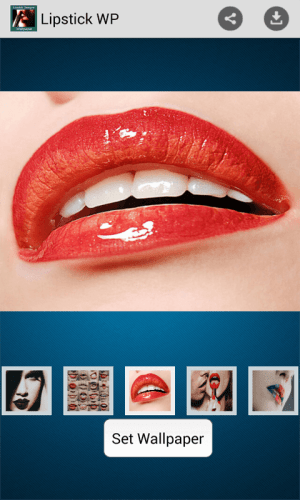 Android Lipstick Designs and Wallpapers Screen 2