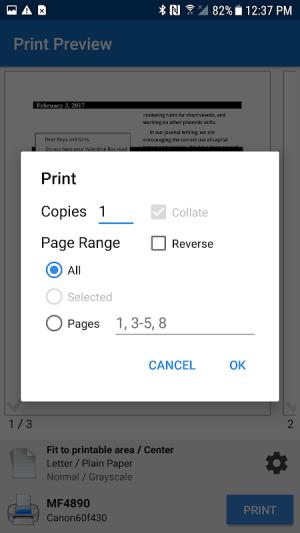 NokoPrint - Mobile Printing 1.9.0 Screen 3