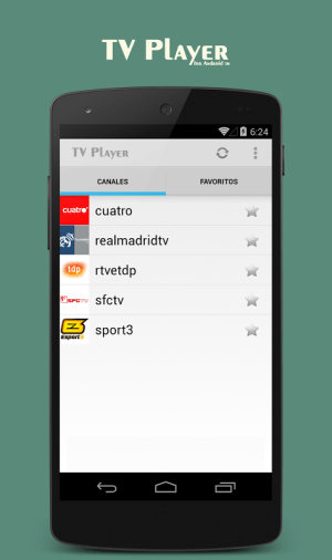 Android TV Player for Android Screen 7