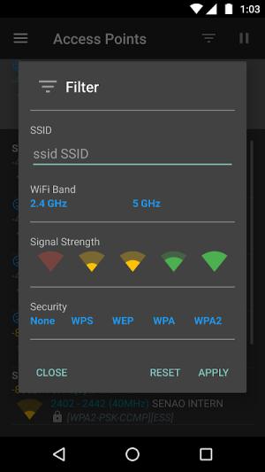 WiFi Analyzer (open-source) 2.1.1 Screen 6