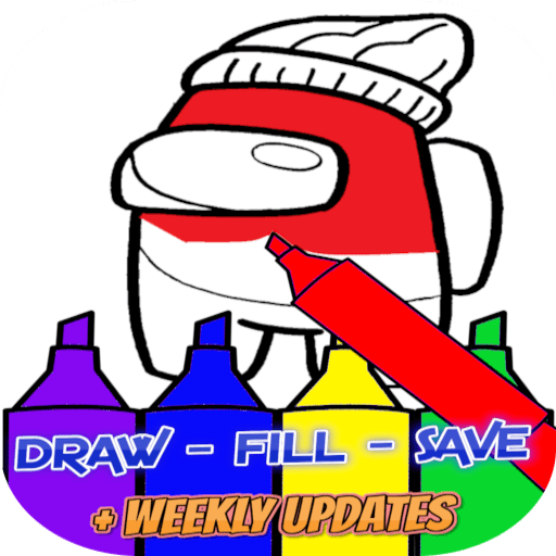 Real Among Us Coloring Book Apk