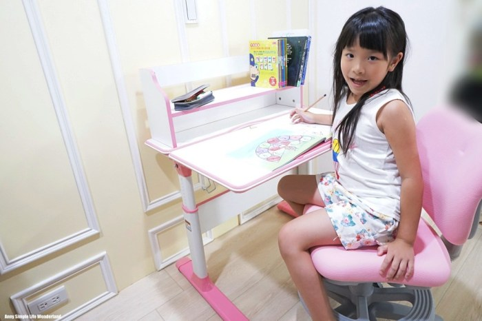 【育兒好物】kikimmy新升級可升降成長型兒童書桌(桌+書架) ♥ 為小學做準備