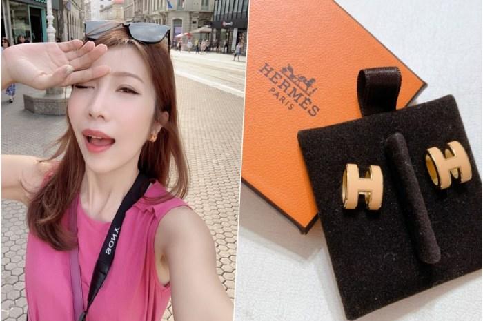 【精品】愛馬仕經典的Hermes H耳環 ♥ 愛馬仕琺瑯耳環開箱