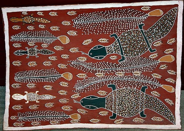 Aboriginal Bark Painting Rita The Berry Collection