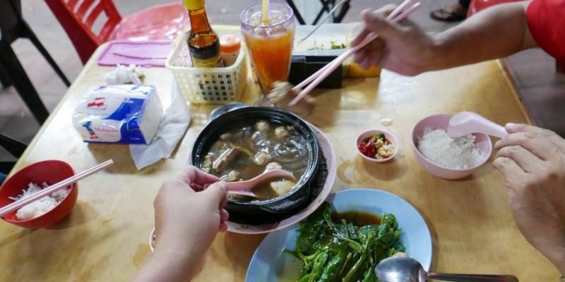沙巴新記肉骨茶 | 沙巴亞庇必吃美食推薦,沙鍋裝盛的肉骨茶,沙巴肉骨茶名店之一。