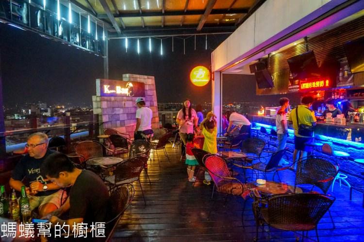 斗六緻麗伯爵酒店Knight's Bar   13樓露天酒吧眺望斗六市區夜景,約會小酌放鬆就來這。