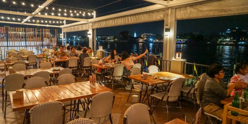 Savoey Thai Restaurant曼谷昭披耶河岸夜景餐廳   泰國40年品牌餐廳,Tha Maharaj瑪哈拉碼頭文青市集美食。