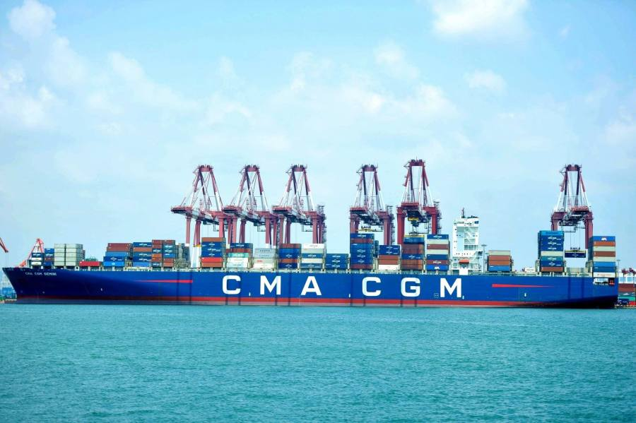 China s premier appeals for free trade amid tariff battle   MPR News A cargo ship is seen at a port in Qingdao